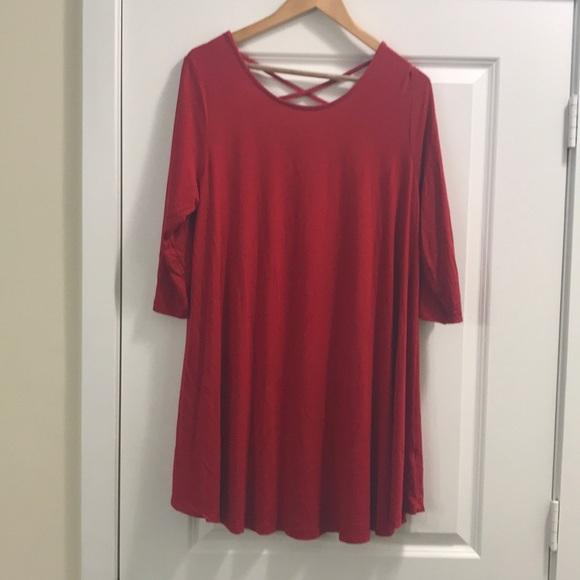 zoe Dresses & Skirts - Euc-ZOE red dress large